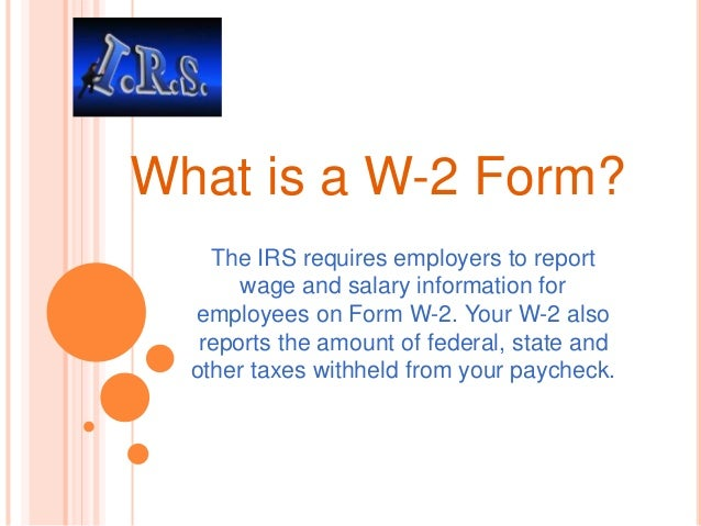 What is Form W-2 |DEFINITION of 'W-2 Form?' form w 2