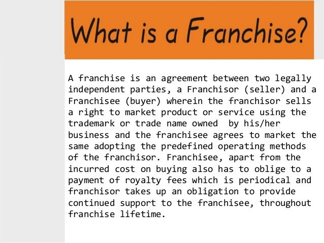 example of franchise