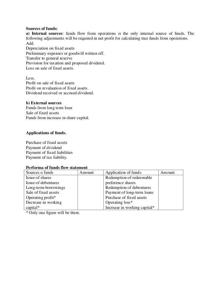 What is fund flow statement