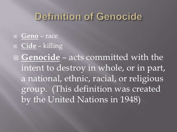 define genocide Askdefine is an online english dictionary it features auto completion of search words, extensive set of dictionary words, lists of english synonms and rhymes visit the online dictionary.