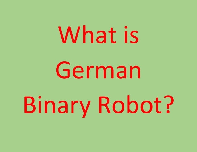 What is a binary option robot
