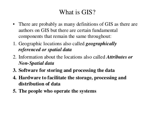 What is gis Slide 2