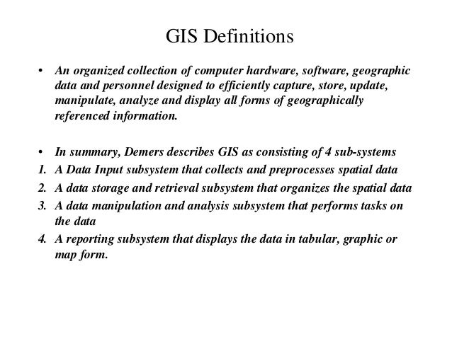 What is gis Slide 3