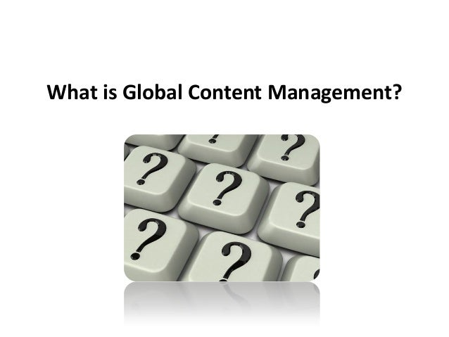 What is Global Content Management?
