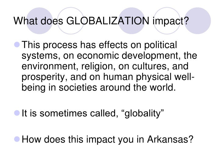 globalization globalization does effects people different What makes the rest of this list possible is the ever-increasing capacity for and efficiency of how people and things move and there is a heated debate about the true effects of globalization and if it really is such a good although different cultures from around the world are.