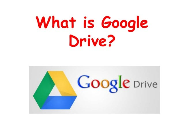What is GoogleDrive?