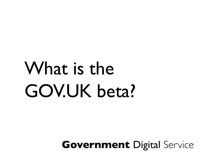 What is theGOV.UK beta?