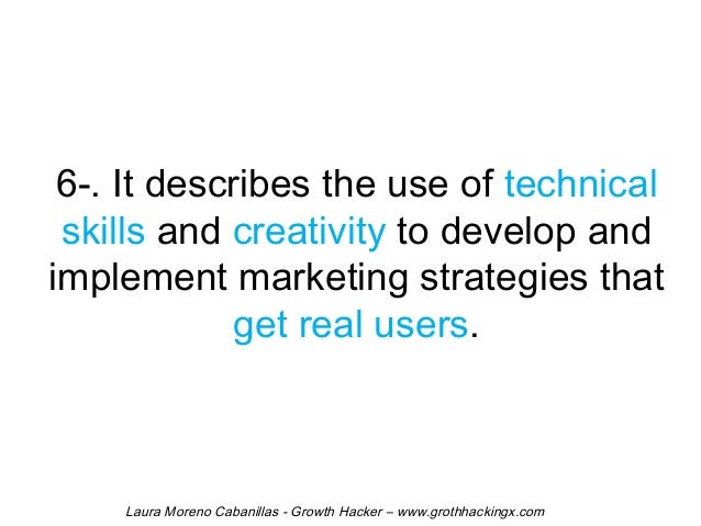 6-. It describes the use of technical  skills and creativity to develop and  implement marketing strategies that  get real...