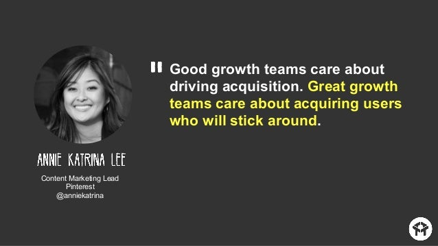 """""""Growth Marketers are fearlessly creative, willing to measure everything, be able to admit failure, get sh*t done, but nev..."""