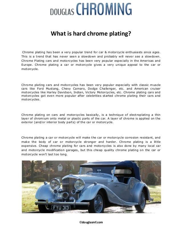 Douglas Metal Finishing Limited Explains - What is hard chrome platin…