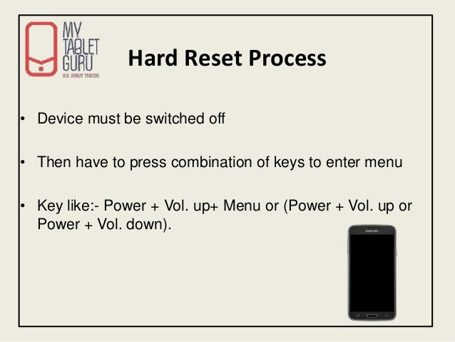 What is Hard Reset of Android Tablet / Mobile