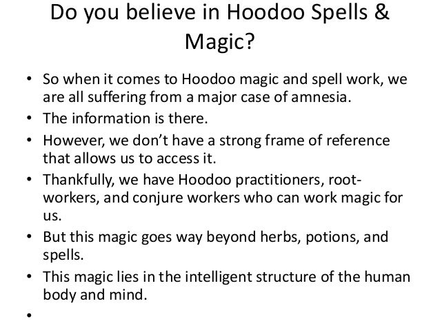 What is hoodoo magic and spells