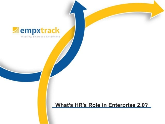 What's HR's Role in Enterprise 2.0?