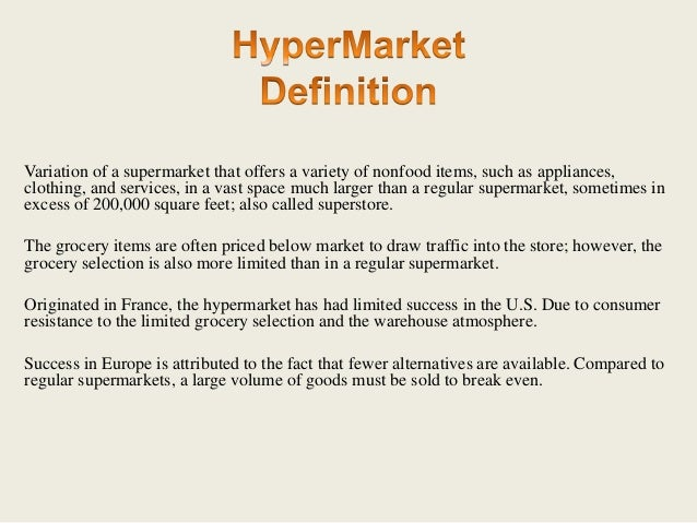 What Is Hypermarket