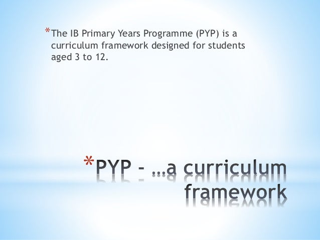 IB PYP Definition and explanation