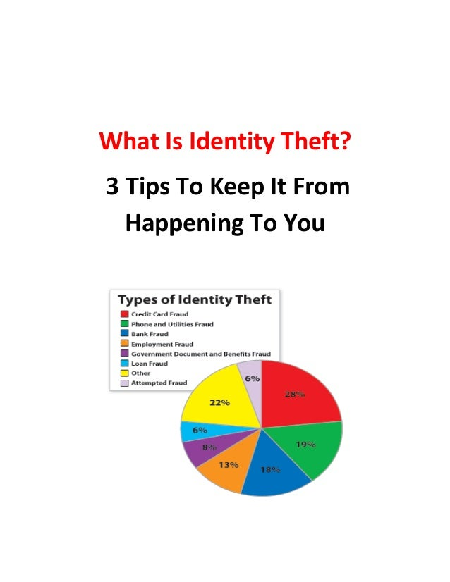 identity theft what is it essay Identity theft is a major problem that has simple solutions put an end to it by  following these three easy tasksan end of identity theft day after.