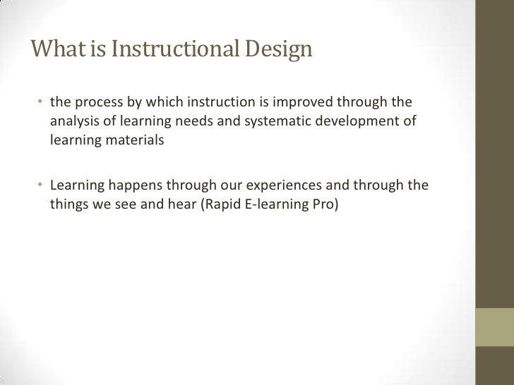 What Is Instructional Design Part 2