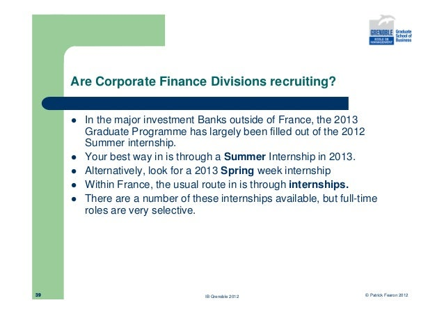 Investment Banking Graduate Programme