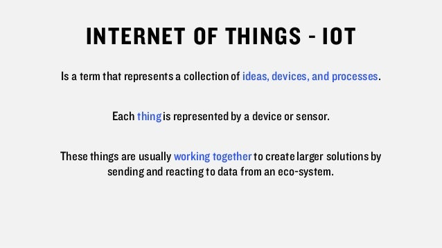 What is the Internet of Things (IOT) Slide 3