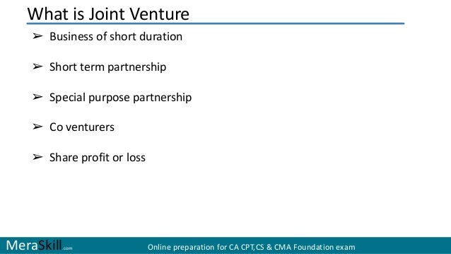What is joint venture - Je vous joint ou joins ...