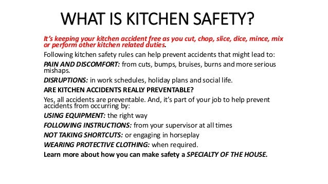 What Is Kitchen Safety
