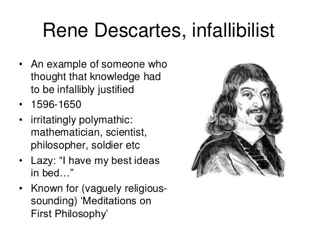 rene descartes meditations essay Essays and criticism on rené descartes - critical essays principles of philosophy), a four-part treatise that provided further explanation of the principal ideas of the meditations descartes visited paris in 1647, where he met blaise pascal and attended court.