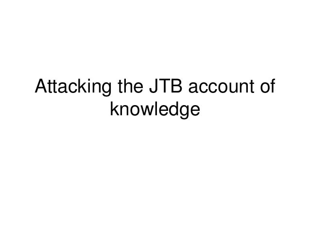 Attacking the JTB account of knowledge