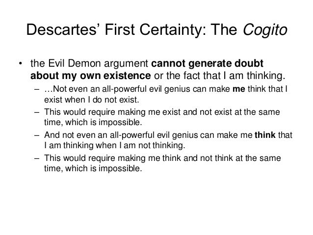 explain and assess descartes trademark argument Origins of knowldge 2016 revision 2 concept  – ideas of god descartes' trademark argument  • god's selection of innate ideas is hard to explain.