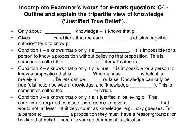 """an analysis of platos basis of justified true belief Analysis of edmund gettier's """"is justified true belief knowledge"""" michael winter  presuppositions: a) one could be justified in believing a false proposition."""