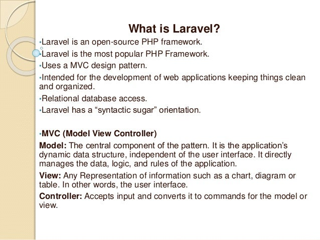What is laravel