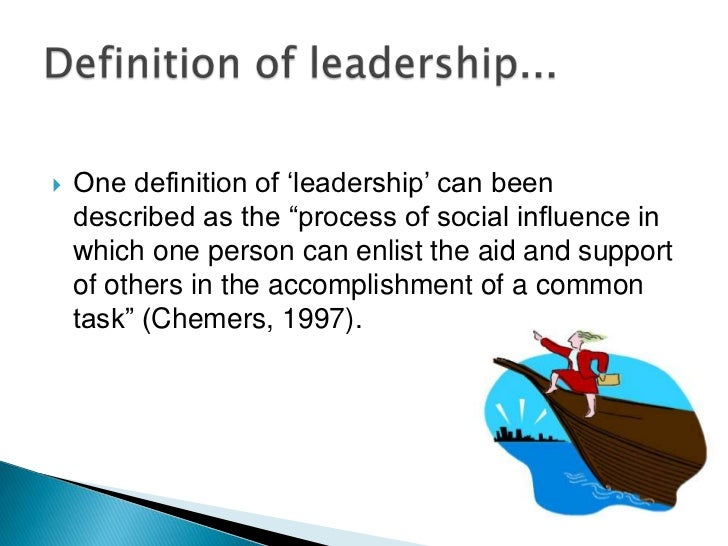 leadership can be defined as the art of influencing others Articles and books that contained a definition, a scale, or a construct of leadership that we could find that we build an integrative model of all the dimensions and show how each element affects the others while that leaders make frequent use of communication skills to influence followers to align with the organization's.