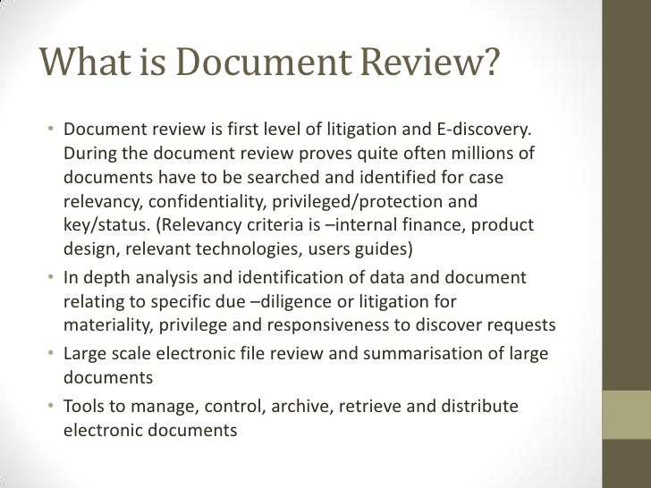What Is Legal Process Outsourcing - Legal document review