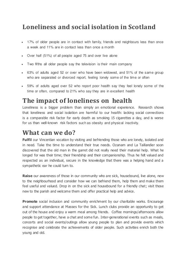 What is loneliness Slide 2