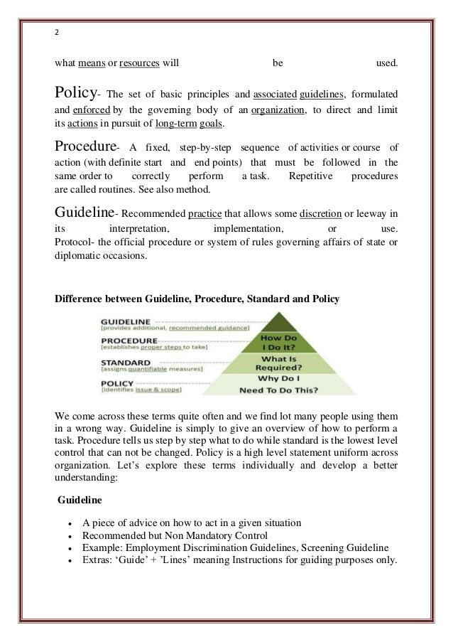 procedures manual example