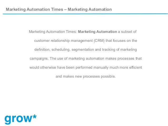 Definition  What Is Marketing Automation