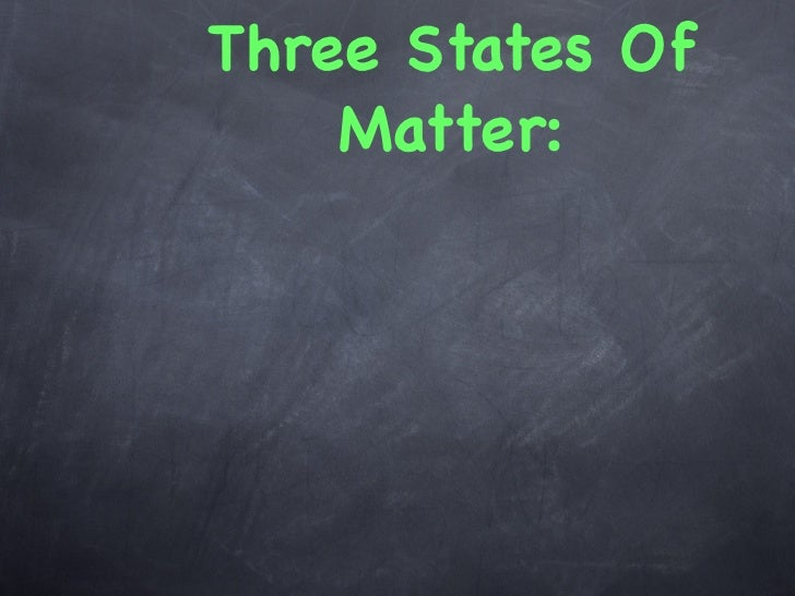 Three States Of    Matter: