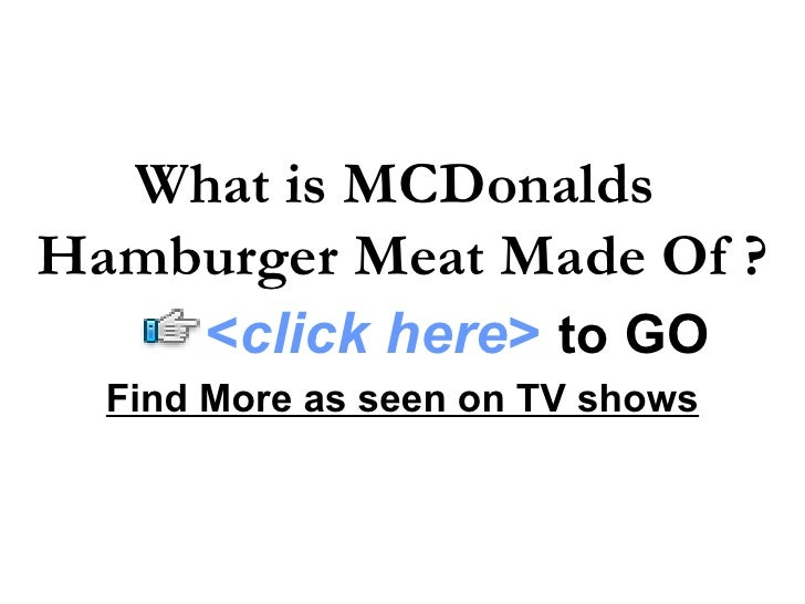 How would you describe mcdonalds business