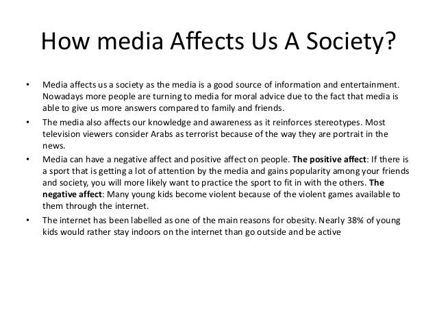 how media affects society