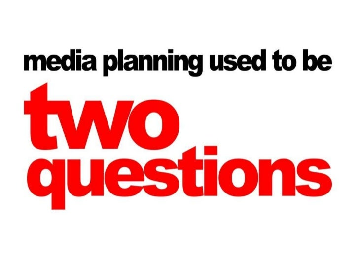 What is media planning?