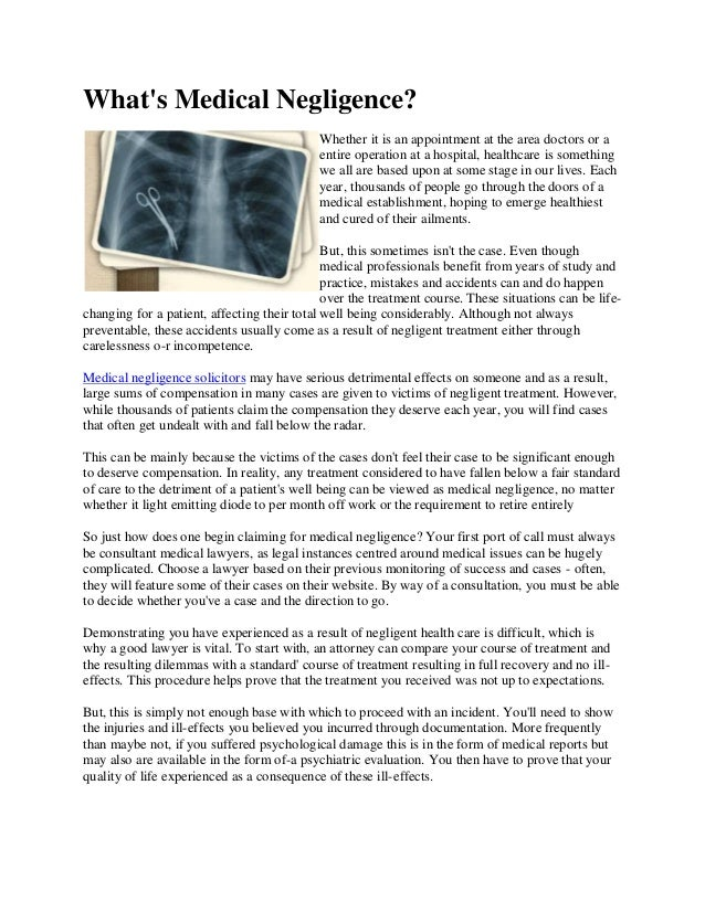Medical Malpractice Basics