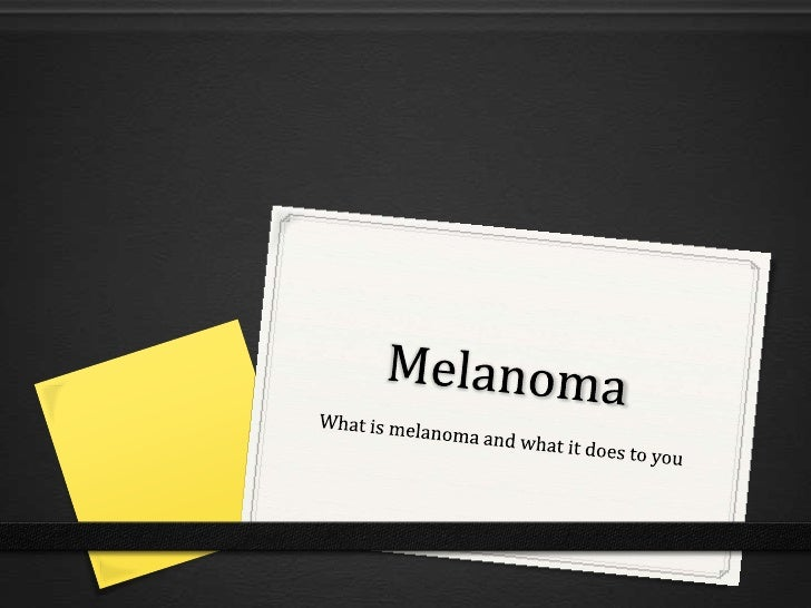 What is melanoma?0 Melanoma is a serious  and risky type of skin  cancer that is an unusual  growth on skin cell  called m...