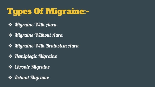 Examples List on Migraine Headaches