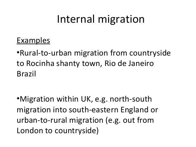 the causes and consequences of rural to urban migration essay Problems and solutions of urbanization environmental most of these immigrations are done from rural areas to urban the major causes of urbanization can.