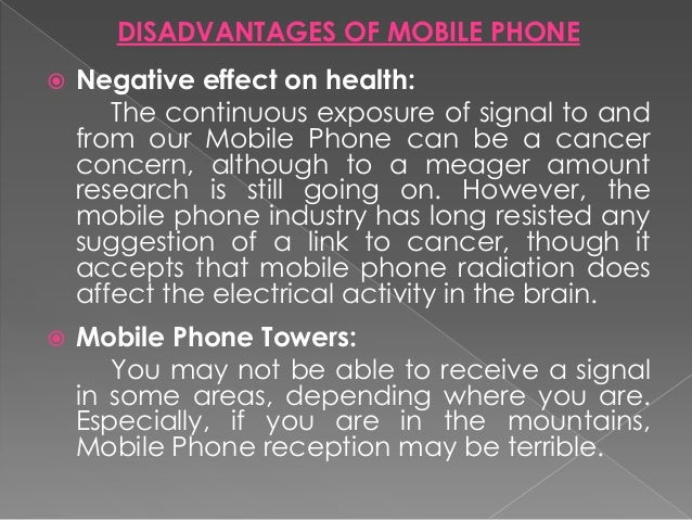 Benefits and problems of mobile phones
