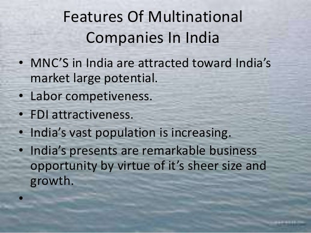 features of multinational corporations