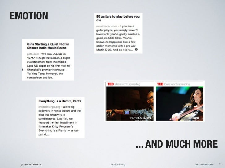 EMOTION                                           ... AND MUCH MORE  (c) CREATIVE COMPANION   MusicThinking               ...
