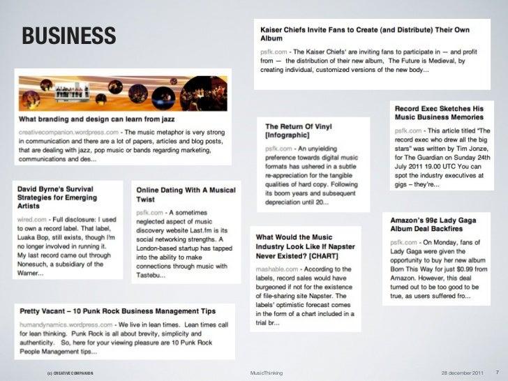 BUSINESS  (c) CREATIVE COMPANION   MusicThinking   28 december 2011   7