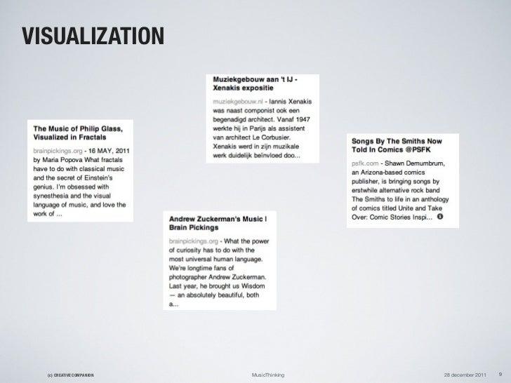 VISUALIZATION  (c) CREATIVE COMPANION   MusicThinking   28 december 2011   9