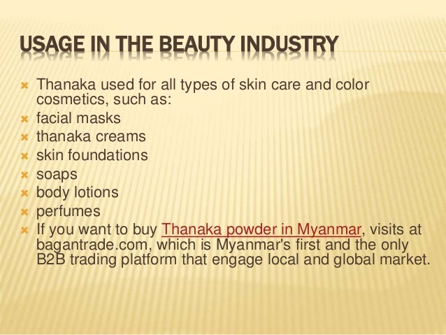 What is myanmar thanaka