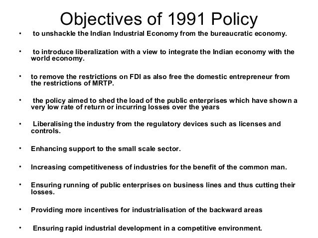 impact of new economic policy 1991 The cumulative effect was that our economy started slipping into  of economic  reforms, or the elements of nep (new economic policy.